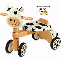 houten speelgoed loopfiets koe