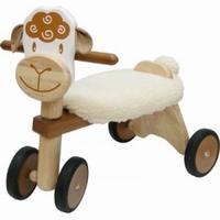 houten speelgoed loopfiets schaap