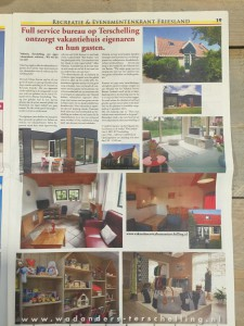 media aandacht in de Recreatie evenementenkrant friesland